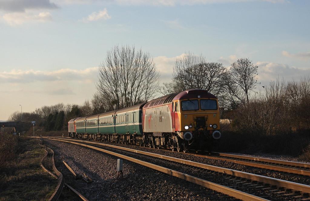 57309/57305, 16.15 Taunton-Cardiff Central, Bathpool, Taunton, 11-2-10.