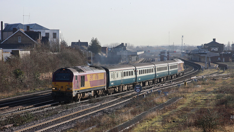67016/67017, 08.00 Cardiff Central-Paignton, Taunton, 5-2-10.