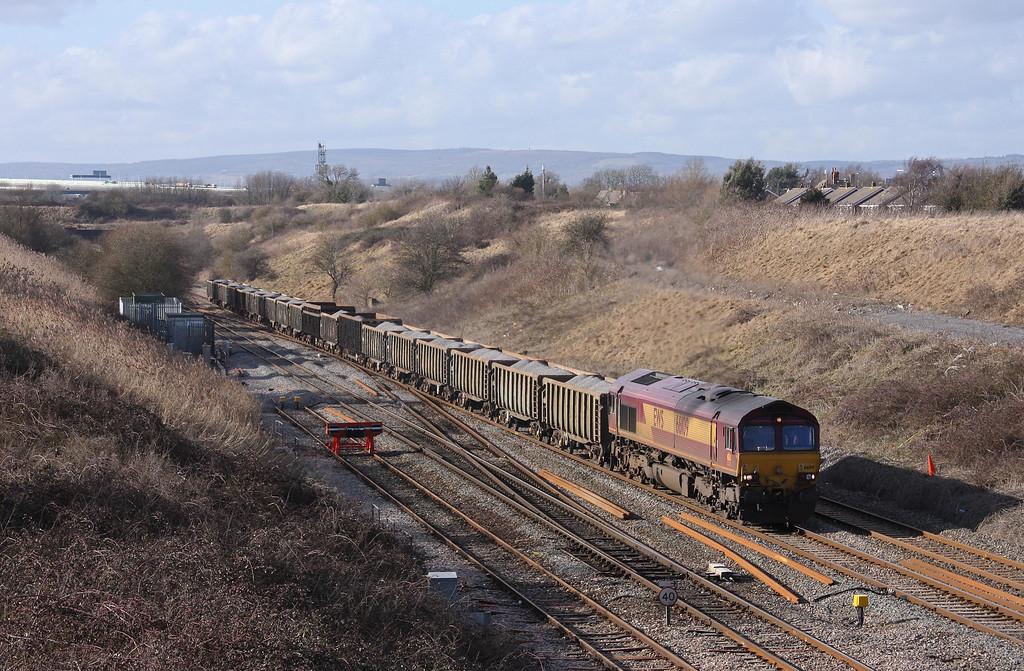 66109, 12.34 Port Talbot Grange Sidings-Lea Interchange, Pilning, 26-2-10.