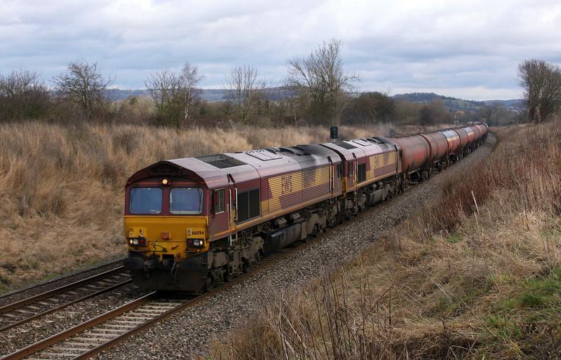 66094/66149, 05.05 Robeston-Westerleigh, Coaley, Gloucestershire, 26-2-10.