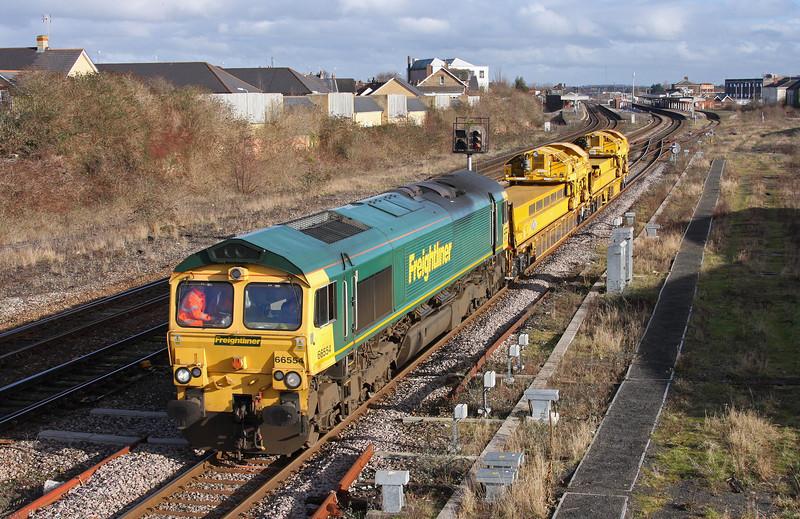 66554, Bristol St Phillips Marsh-Taunton Fairwater Yard, Taunton 40 Steps Bridge, 5-2-10.