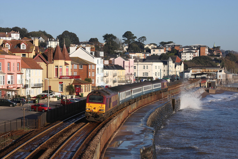 67016/67017, 08.00 Cardiff Central-Paignton, Dawlish, 4-1-10.