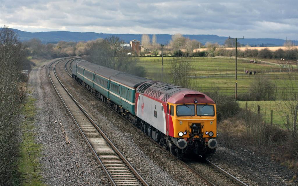 57312/57316, 11.02 Taunton-Cardiff Central, Cogload Junction, 29-1-10.