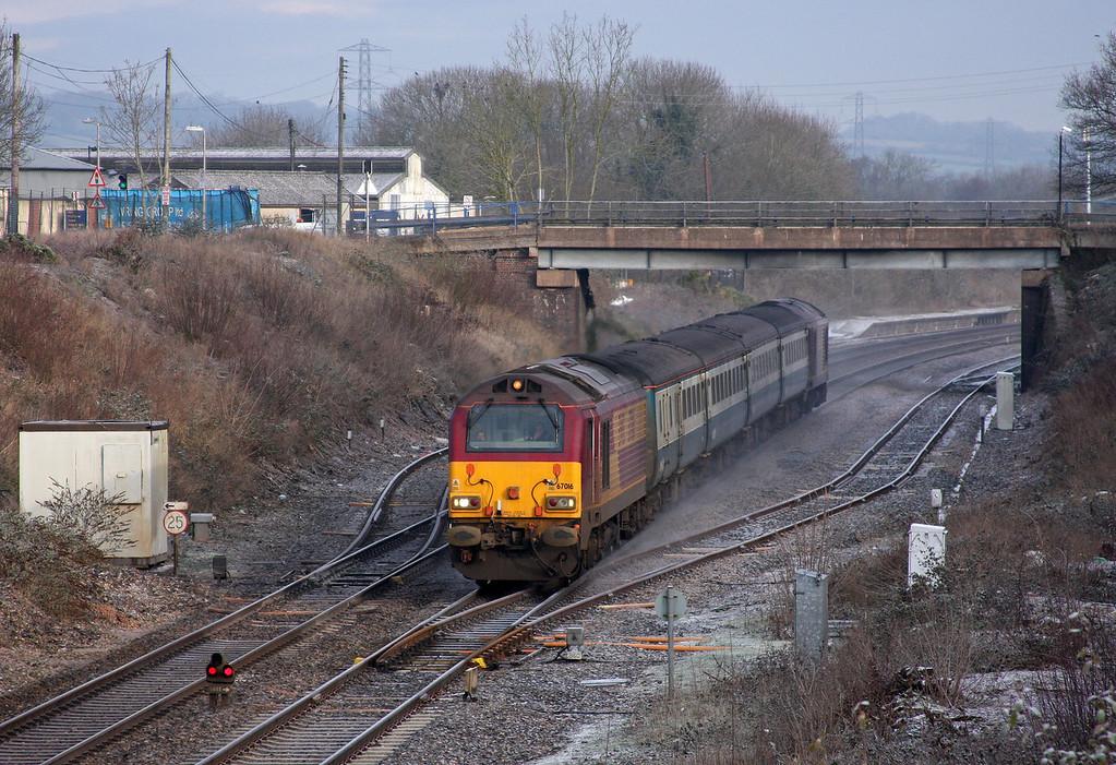 67016/67017, 08.00 Cardiff Central-Paignton, Willand, near Cullompton, 5-1-10.