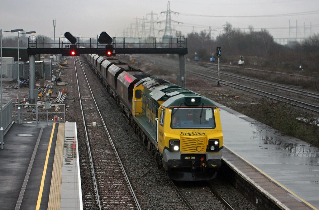70005, 08.25 Portbury-Rugeley Power Station, Severn Tunnel Junction, 22-1-10.