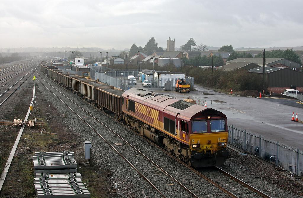 66173, 12.34 Port Talbot Grange Sidings-Lea Interchange, Severn Tunnel Junction, 22-1-10.