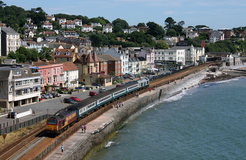 67017/67029, 08.00 Cardiff Central-Paignton, Dawlish, 19-7-10.