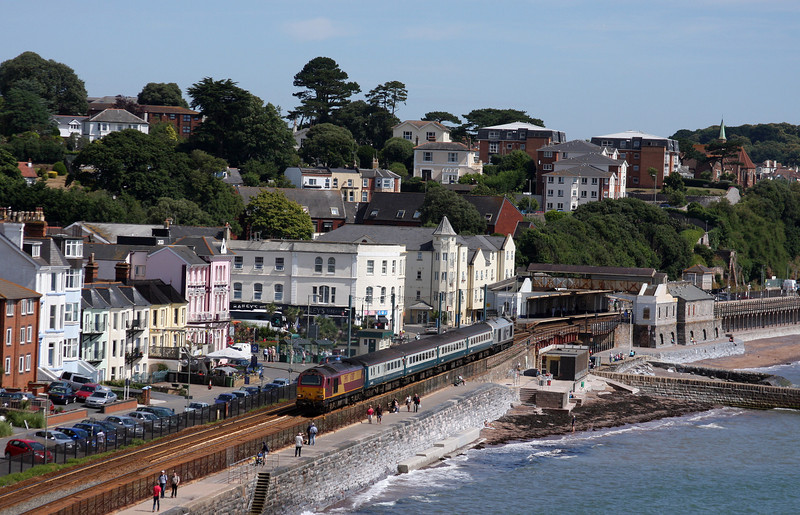 67017/67029, 08.00 Cardiff Central-Paignton, Dawlish, 19-07-10.