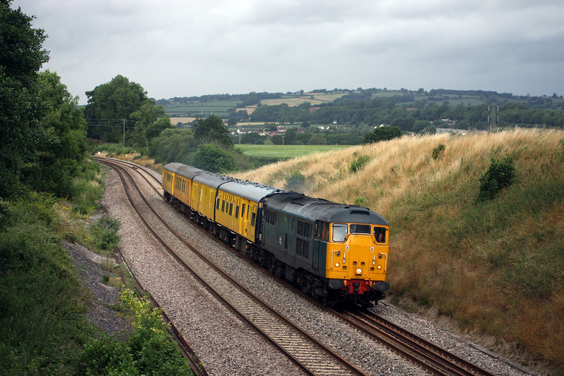 31106, 13.30 Exeter Riverside New Yard-Didcot (via Minehead), Whiteball, 14-7-10.