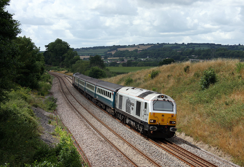 67029/67017, 12.47 Paignton-Cardiff Central, Whiteball, 21-7-10.