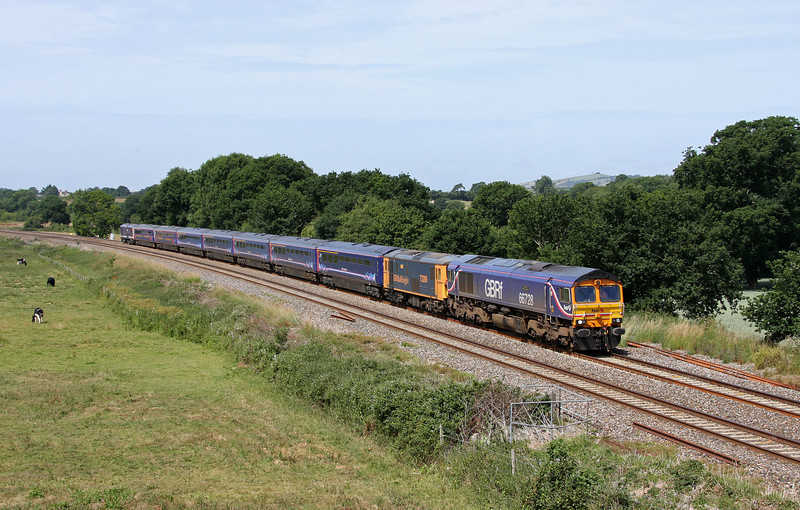 66728/73206/73212, 10.00 Plymouth Laira-Eastleigh buffet cars, Ellerhayes, Silverton, 8-7-10.