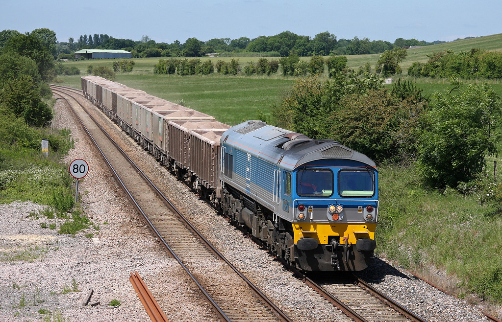 59002, 10.31 Merehead Quarry-Acton, Crofton, near Great Bedwyn, 16-6-10.