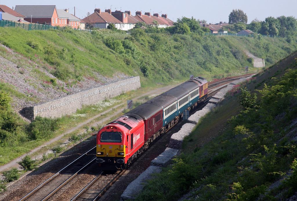 67018/67003, 08.00 Cardiff Central-Taunton, Lockleaze, Bristol, 3-6-10.