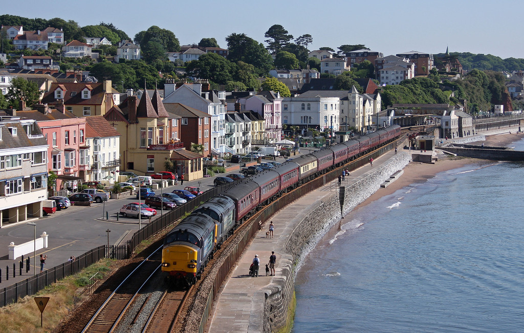 37259/37218, 06.45 Gloucester-Penzance, The Kernow Explorer, Dawlish, 26-06-10.