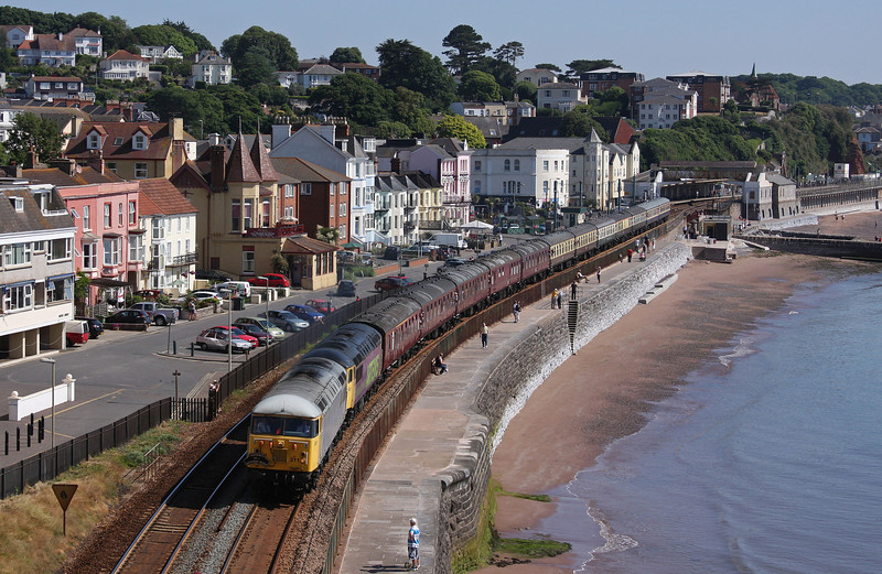 56311/56312, 05.47 Tame Bridge Parkway-Penzance, The Cornishman, Dawlish 26-6-10.