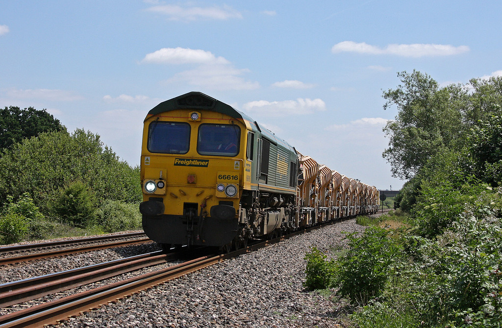 66616, 12.42 Westbury Virtual Quarry-Taunton Fairwater Yard, Bathpool, Taunton, 25-6-10.
