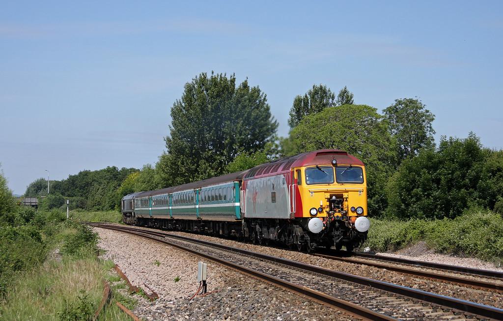 57308/66402, 11.02 Taunton-Cardiff Central, Bathpool, Taunton, 28-6-10.