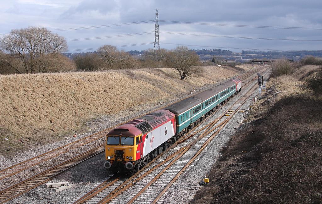 57305/57306, 11.02 Taunton-Cardiff Central, Pilning, 13-3-10.
