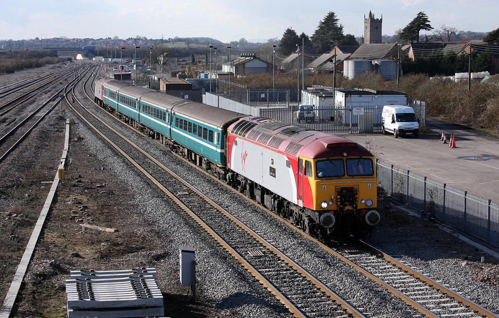57305/57309, 14.00 Cardiff Central-Taunton, Severn Tunnel Junction, 1-3-10.
