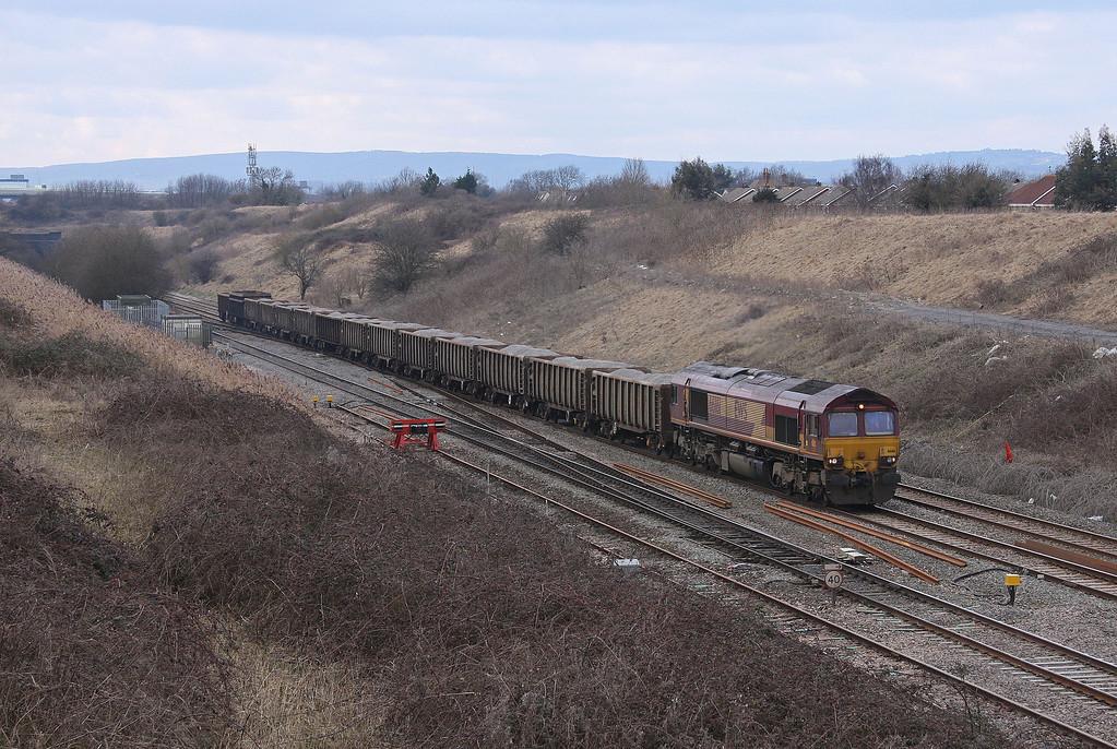 66161, 12.34 Grange Sidings-Lea Interchange, Pilning, 12-3-10.