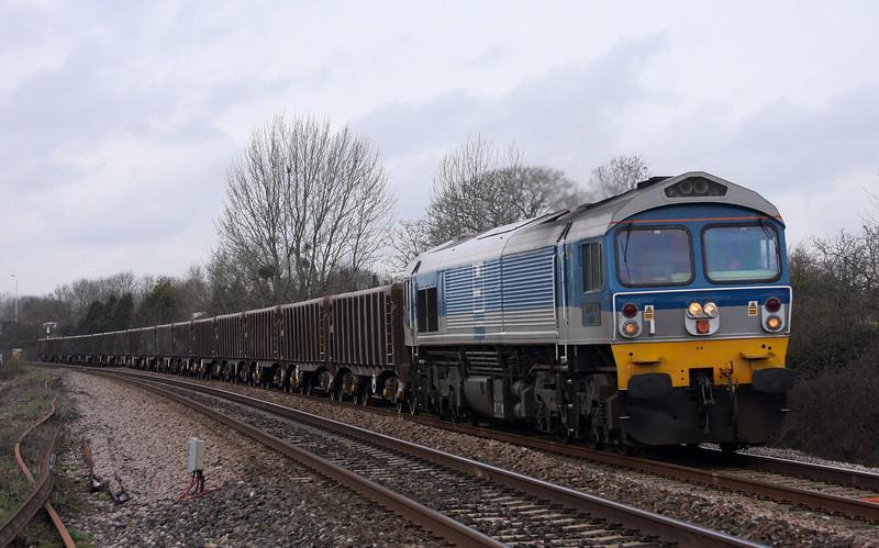 59002, 12.00 Exeter Riverside Yard-Westbury Yard, Bathpool, Taunton, 24-3-10.