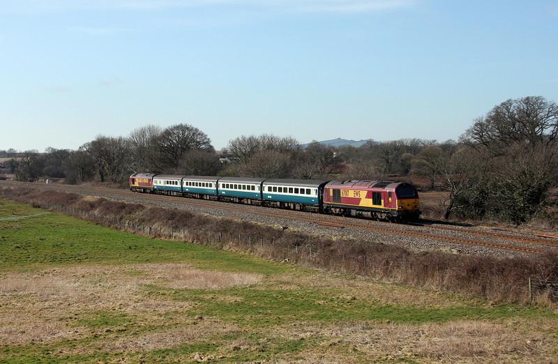 67017/67022, 12.47 Paignton-Cardiff Central, Ellerhayes, Silverton, 4-3-10.