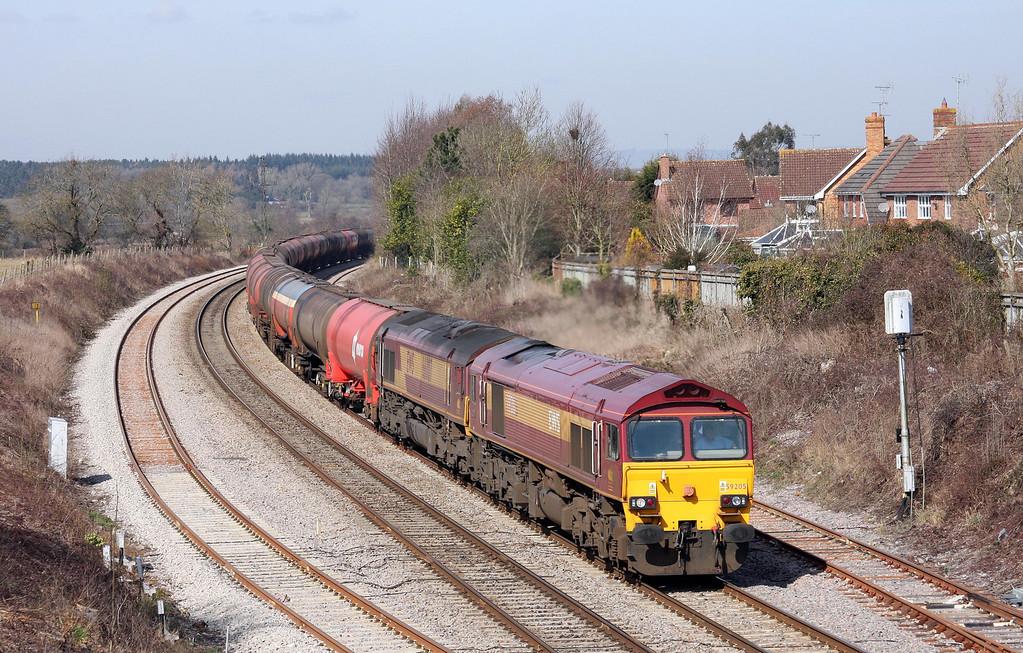 59205/66007. 05.05 Robeston-Westerleigh,Charfield, Gloucestershire, 16-3-10.
