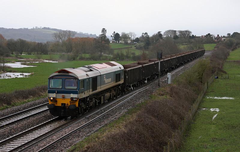 59102, 12.00 Exeter Riverside Yard-Westbury Yard, Rewe, near Exeter, 31-3-10.