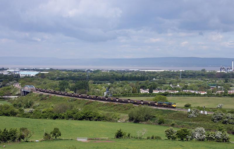 66596, 10.50 Avonmouth Bulk Handling Terminal-Rugeley Power Station, Hallen Marsh, Bristol, 17-5-10.