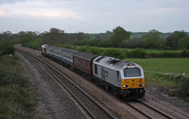 67029/67022, 17.00 Cardiff Central-Paignton, Creech St Michael, near Taunton, 5-5-10.
