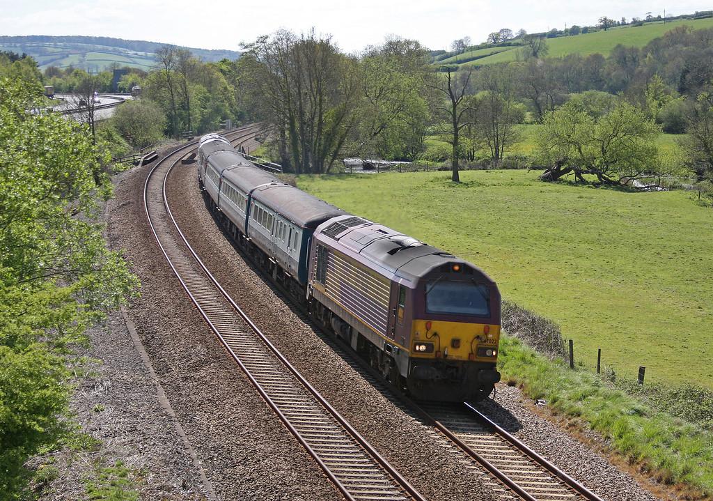 67022/67029, 12.47 Paignton-Cardiff Central, Cullompton, 4-5-10.
