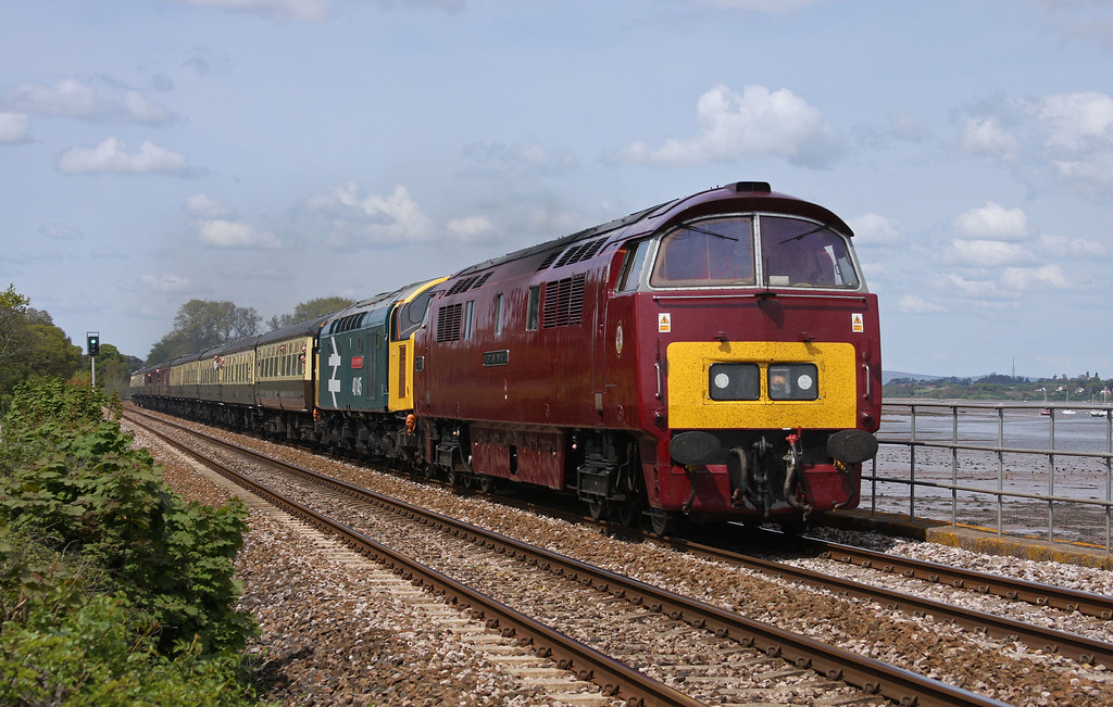 D1015/40145, 05.20 Crewe-Penzance, East Lancs Champion, Powderham, near Exeter, 15-5-10.