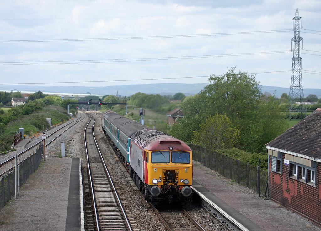57305/57306, 14.00 Cardiff Central-Taunton, Pilning, 17-5-10.