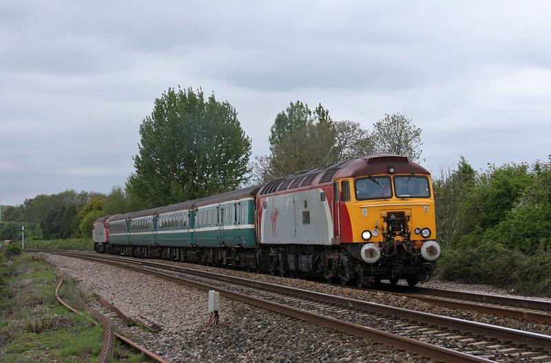 57306/57308, 11.02 Taunton-Cardiff Central, Bathpool, Taunton, 11-5-10.