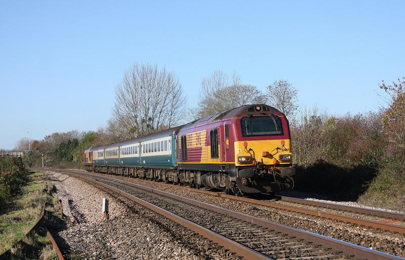 67017/67016, 11.02 Taunton-Cardiff Central, Bathpool, Taunton, 10-11-10.