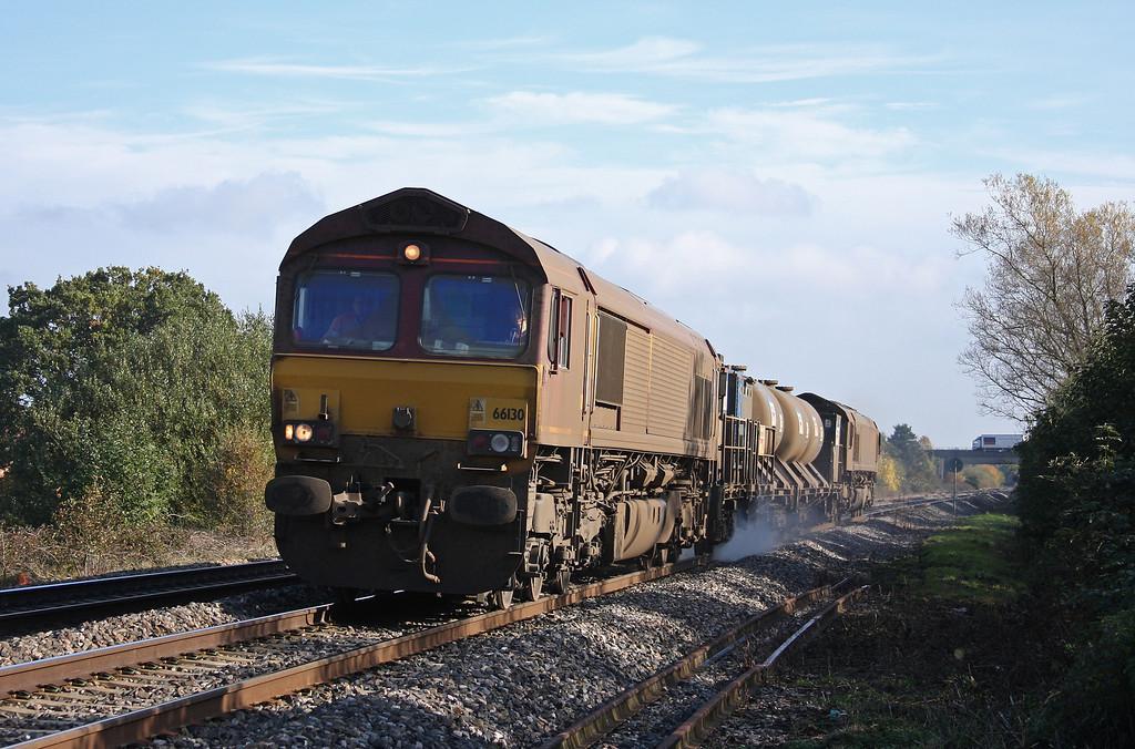 66130/66167, 08.45 Westbury-St Blazey, Bathpool, Taunton, 1-11-10.