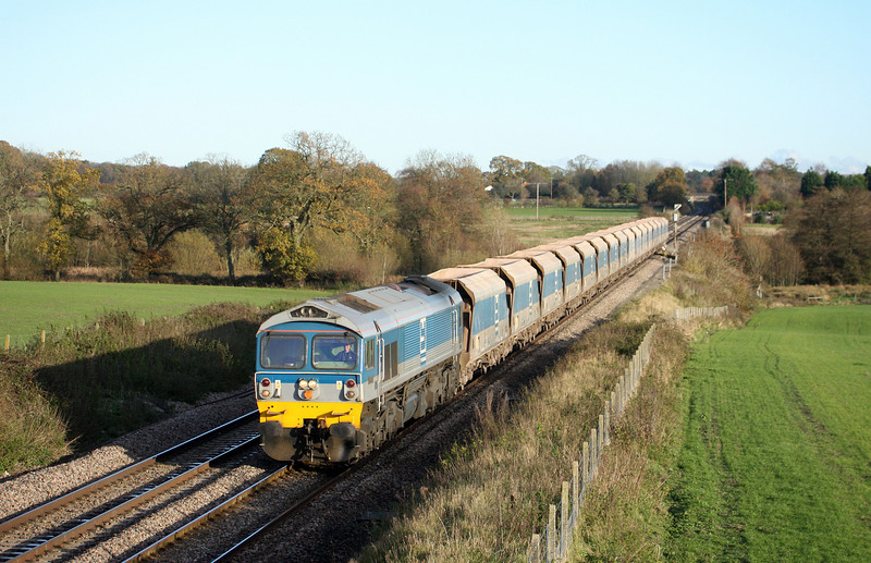 59004, 12.40 Acton Yard-Merehead Quarry, Woodborough, near Pewsey, 16-11-10.