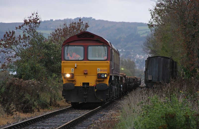 59205, 12.00 Minehead-Whatley Quarry, Dunster, 9-11-10.