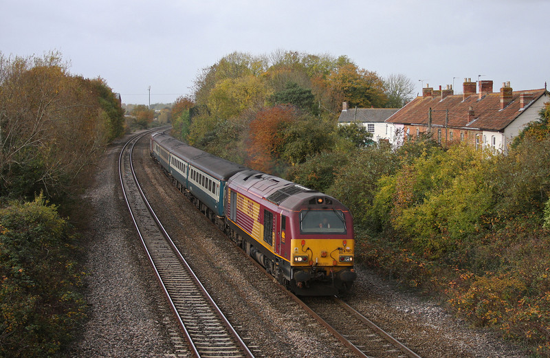 67017/67016, 11.02 Taunton-Cardiff Central, Creech St Michael, near Taunton, 2-11-10.