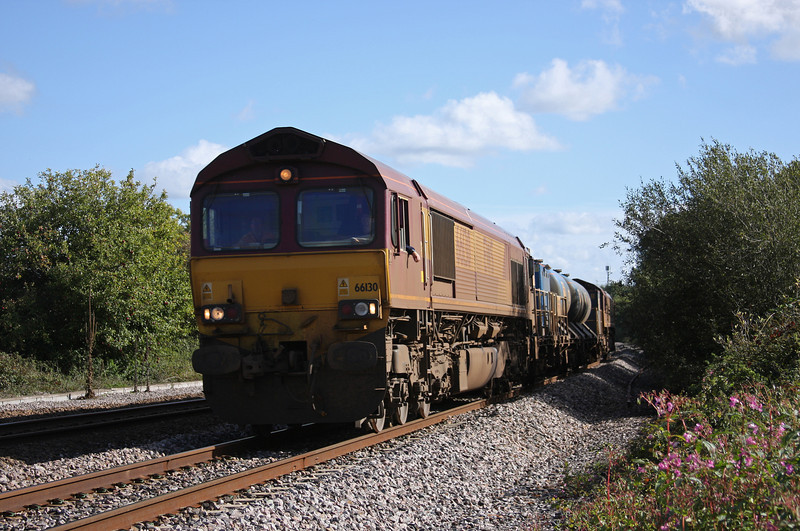 66130/66167, 08.45 Westbury-St Blazey, Rexhill Farm, Bathpool, Taunton, 6-10-10.