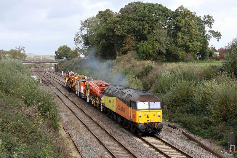 47749, 13.05 Taunton Fairwater Yard- Plymouth Tavistock Junction,  Willand, near Tiverton, 28-10-10.
