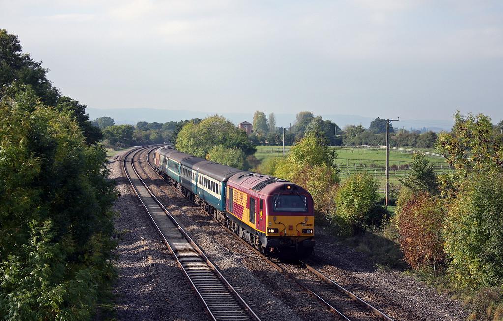 67020/67022, 11.02 Taunton-Cardiff Central, Cogload Junction, 12-10-10.