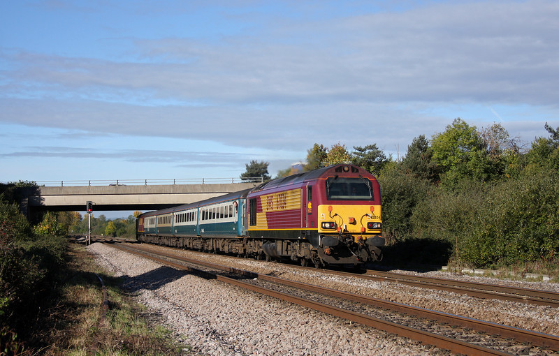 67024/67022, 11.02 Taunton-Cardiff Central, Rexhill Farm, Bathpool, Taunton, 22-10-10.