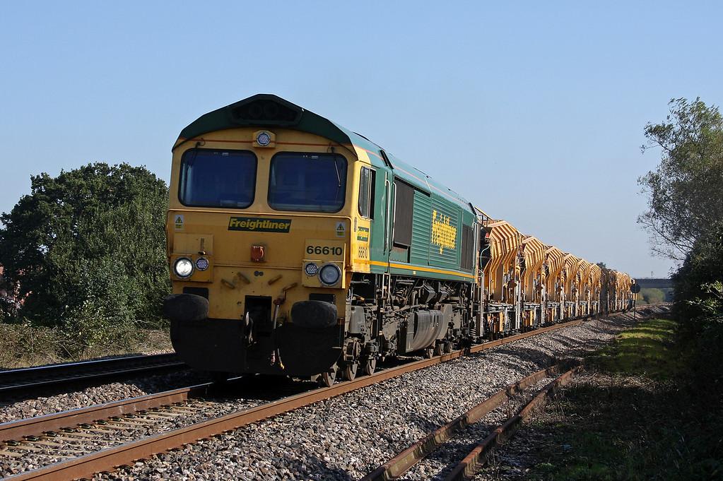 66610, 12.42 Westbury Virtual Quarry-Taunton Fairwater Yard, Bathpool, Taunton, 11-10-10.