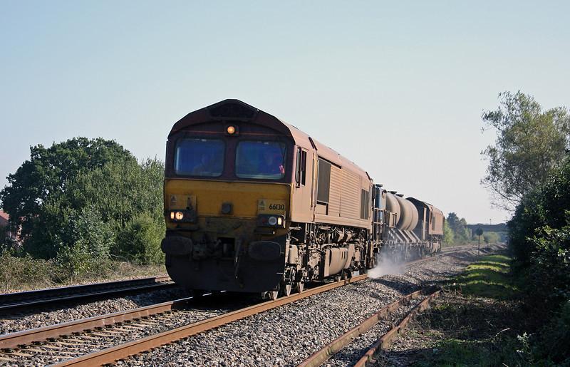 66130/66167, 08.45 Westbury-St Blazey, Bathpool, Taunton, 11-10-10.