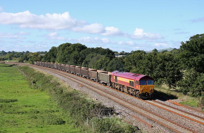 59201, 11.58 Exeter Riverside Yard-Westbury Yard, Ellerhayes, Silverton, 4-10-10.