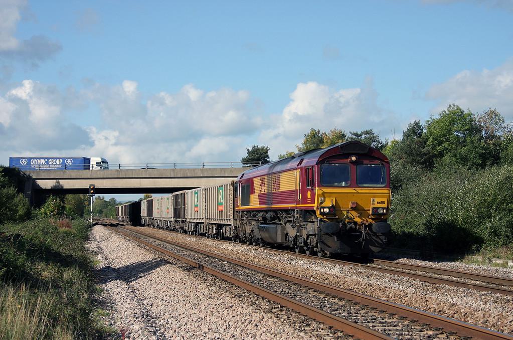 66118, 11.58 Exeter Riverside Yard-Westbury Yard, Rexhill Farm, Bathpool, Taunton, 6-10-10.