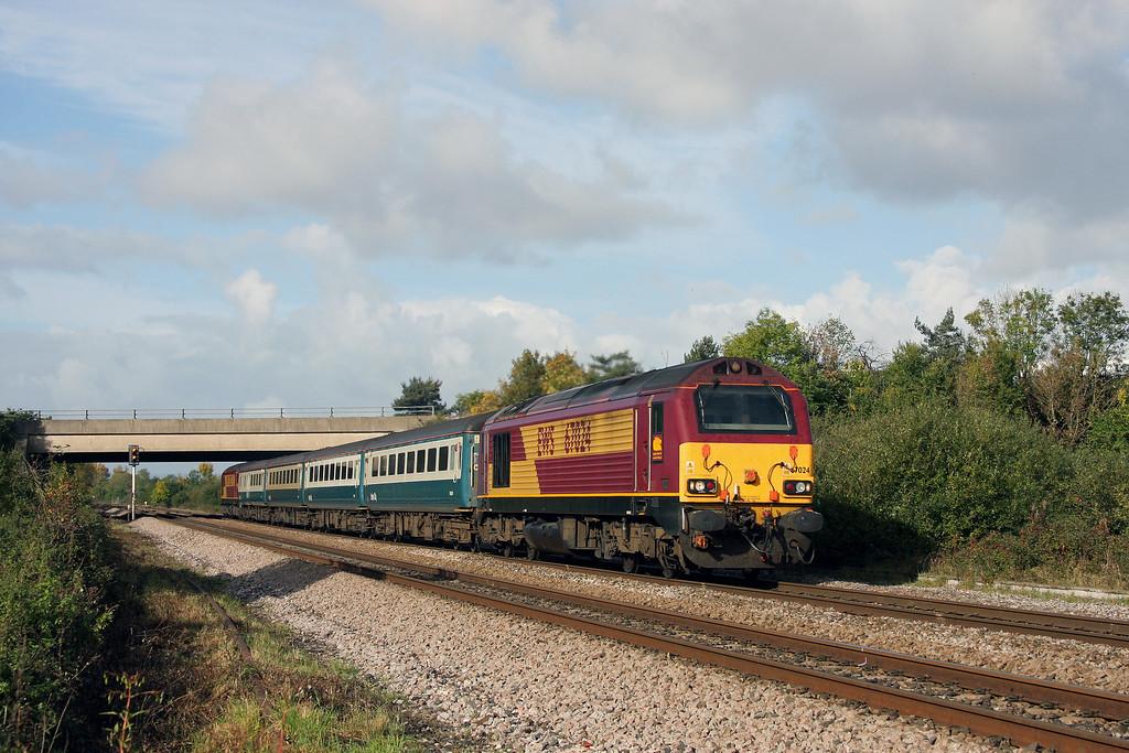 67024/67022, 11.02 Taunton-Cardiff Central, Rexhill Farm, Bathpool, 19-10-10.