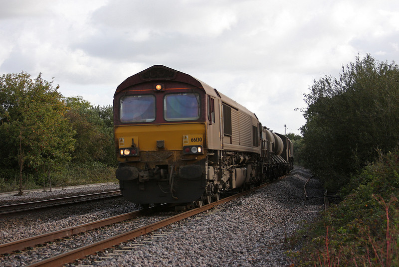 66130/66167, 08.45 Westbury-St Blazey, Rexhill Farm, Bathpool, Taunton, 19-10-10.