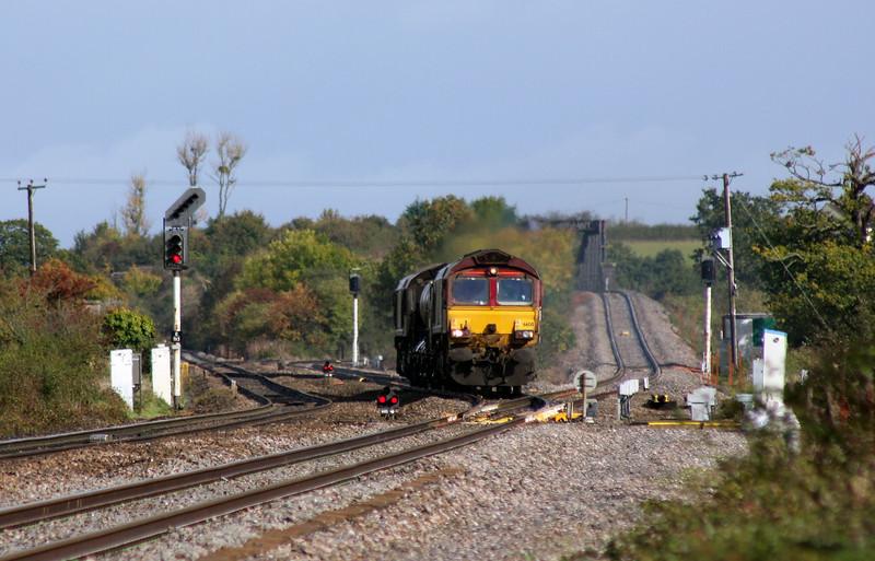 66130/66167, 08.45 Westbury-St Blazey, Cogload Junction, 23-10-10.